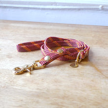 Load image into Gallery viewer, Upcycled Red Flat Rope Small Dog or Puppy leash