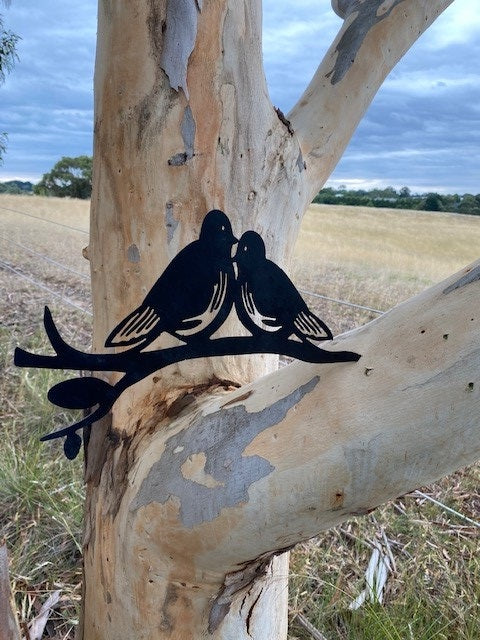 LOVE BIRDS GARDEN ART