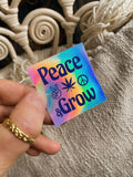 Peace & Grow ☮︎︎ Vibin' stickers pack ✌︎︎