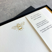 Load image into Gallery viewer, Bumble Bee Foil Notecards