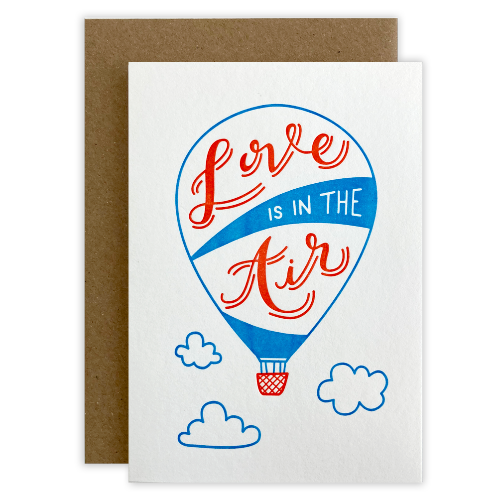 Love Is In The Air Letterpress Card
