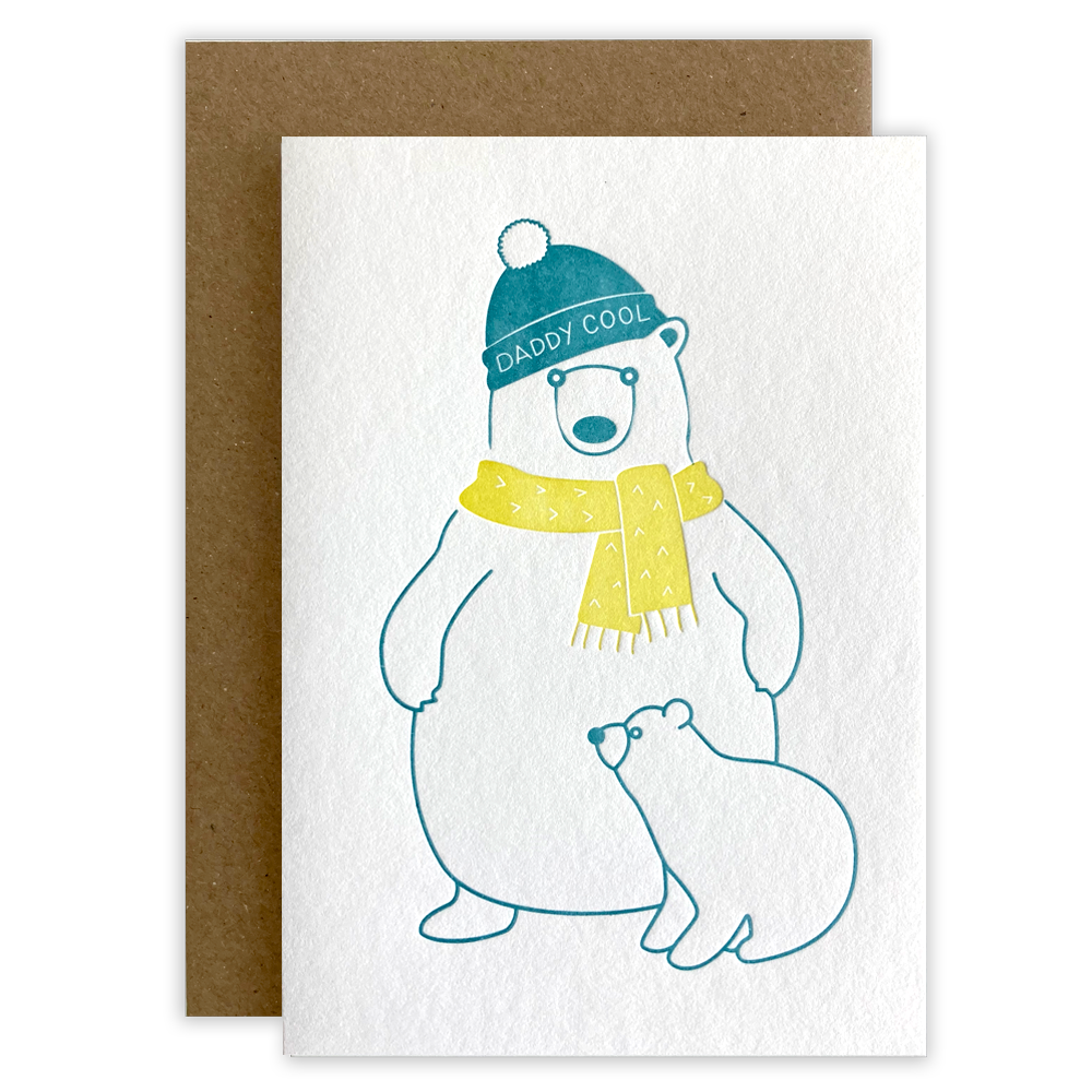 Daddy Cool Letterpress Card