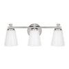 Capital Lighting - 8023PN-127 - Three Light Vanity - Alisa - Polished Nickel