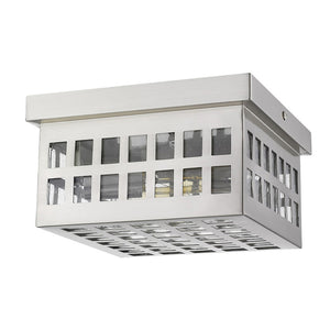 Acclaim Lighting - 1815SN - Two Light Flushmount - Letzel - Satin Nickel