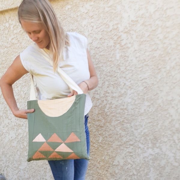 Quilt Block Canvas Tote