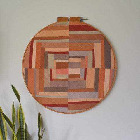 naturally dyed wall hanging