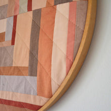 Load image into Gallery viewer, Natural Dye Hoop Quilt 01