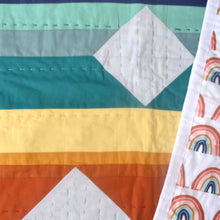Load image into Gallery viewer, Rainbow Crib Quilt: Hand quilted