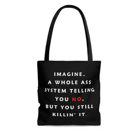 Imagine...Tote, Black