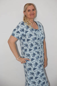 Women's Nightie - Blue Roses