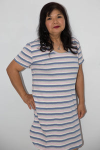 Women's Nightie - Multi Stripe