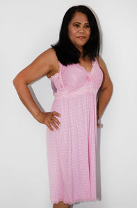 Women's Nightie - Pink Lace