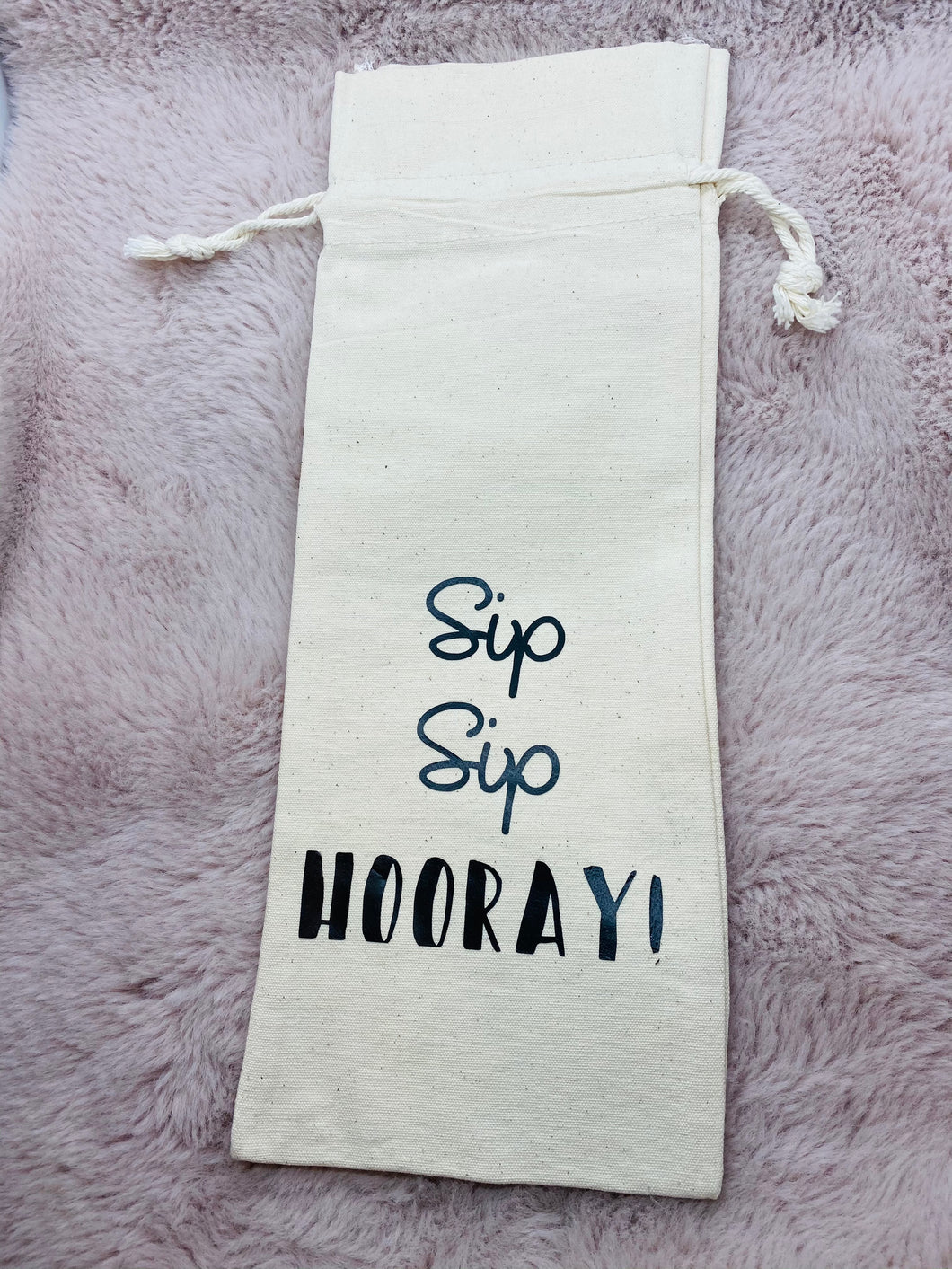 Sip Sip Hooray! Franc It Wine Bag