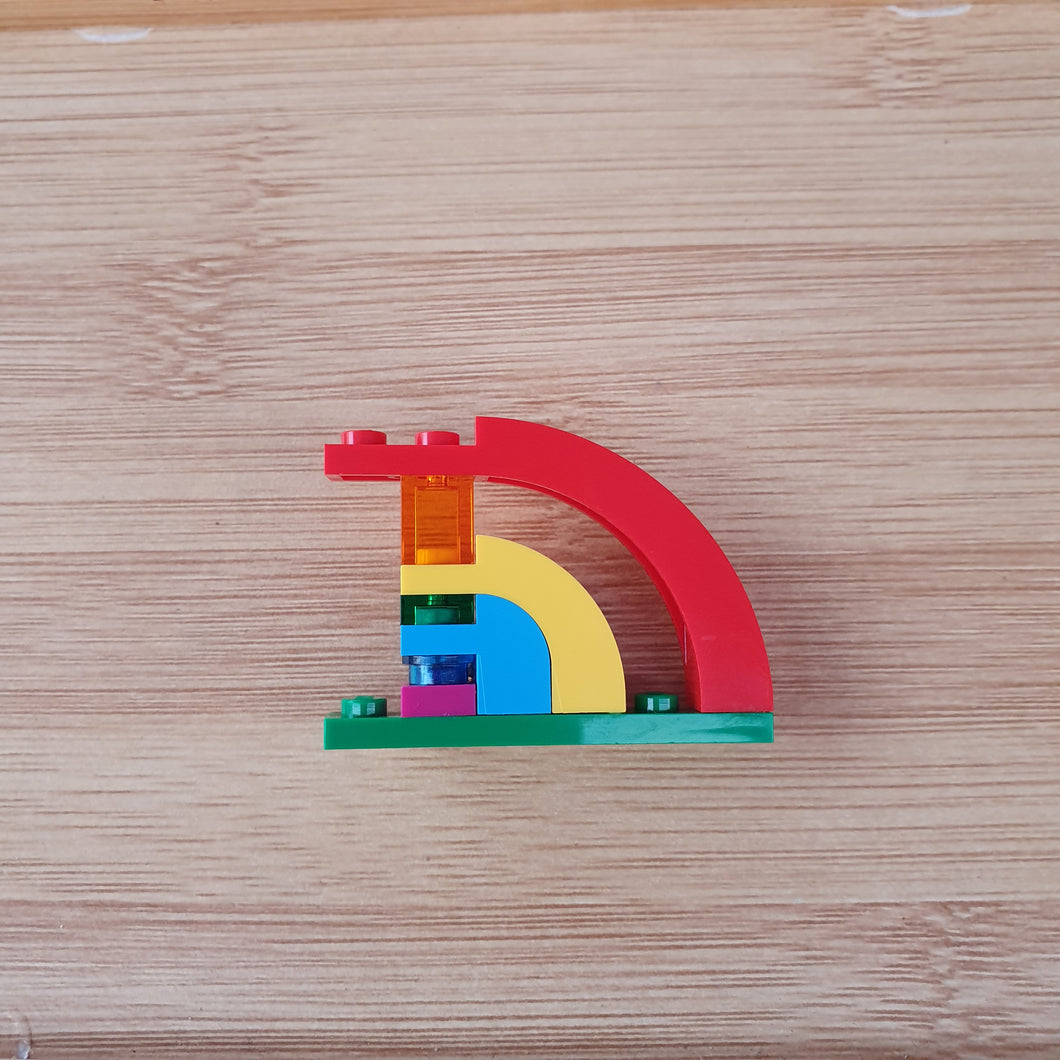 Artistic Rainbow brooch / pin