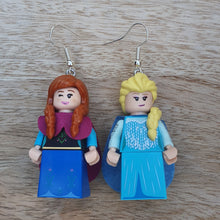 Load image into Gallery viewer, Anna & Elsa character earrings