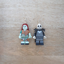 Load image into Gallery viewer, Jack and Sally character earrings