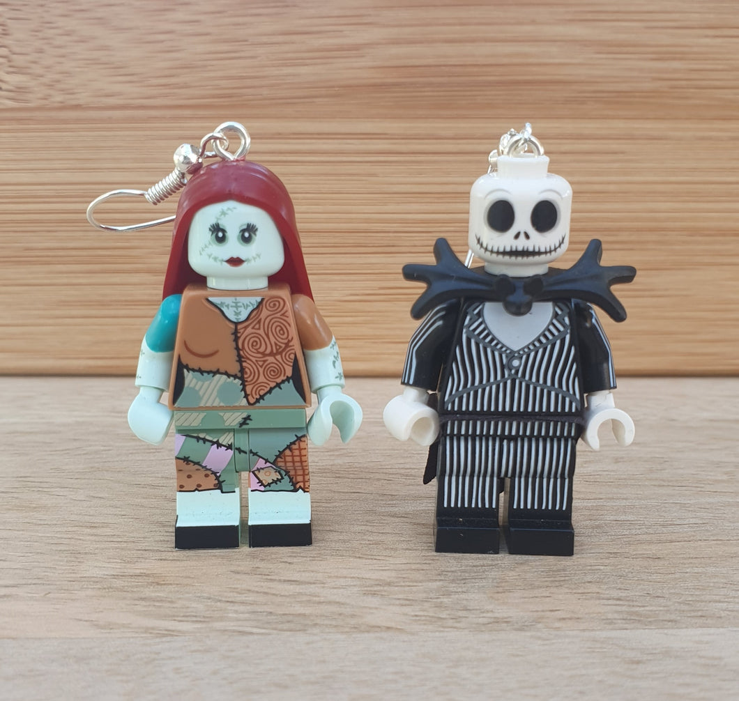 Jack and Sally character earrings