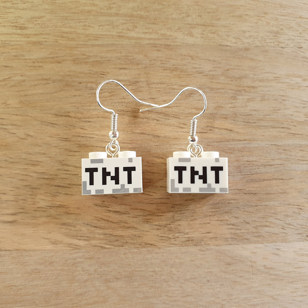 TNT brick earrings