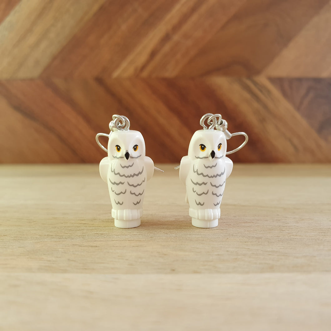 White Owl Earrings