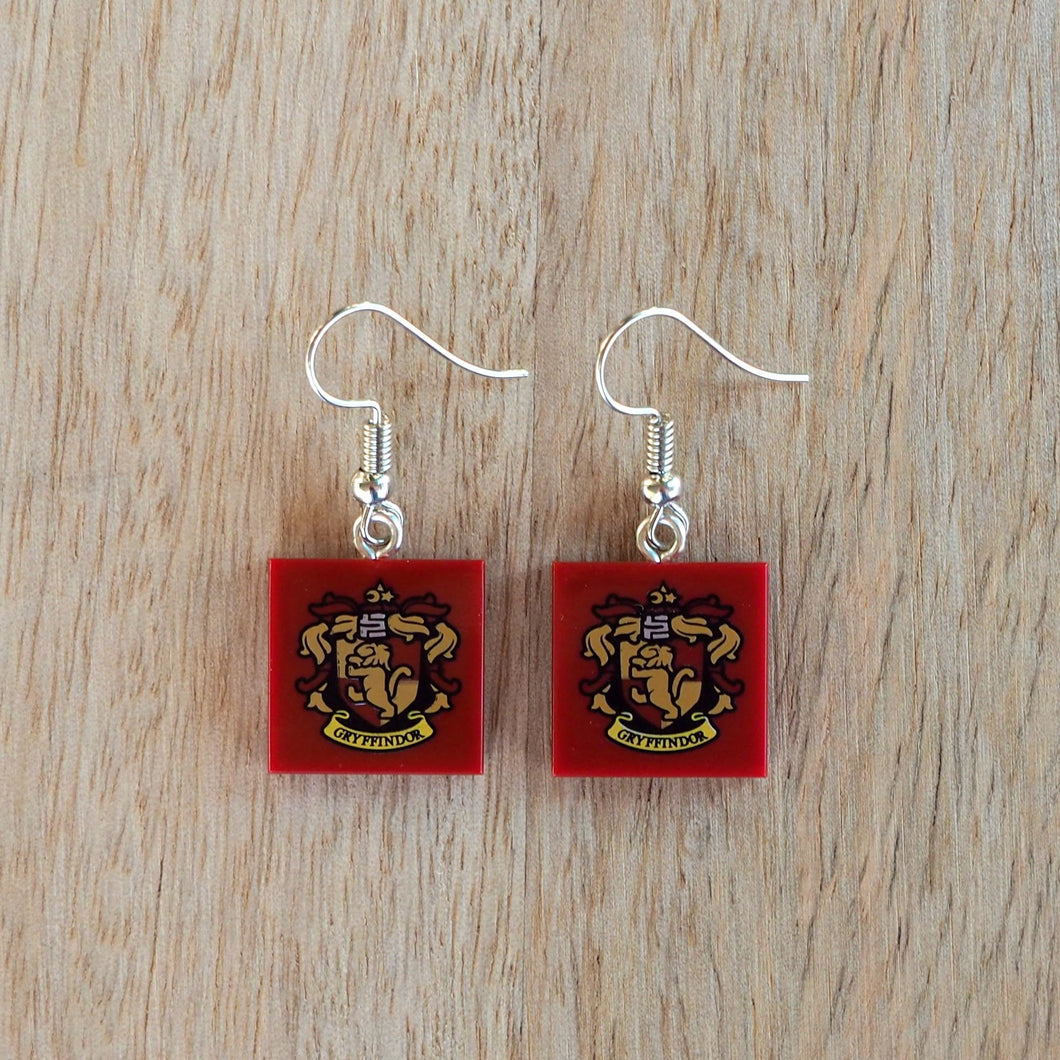 House Crests (School of Wizardry) earrings