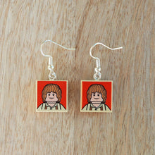 Load image into Gallery viewer, Lord of the Rings tile earrings