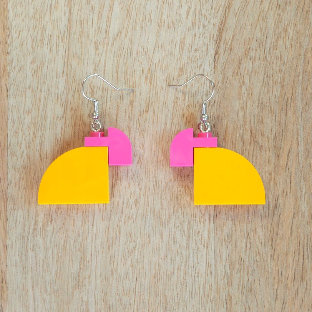 Curved Duo - Light Orange & Pink