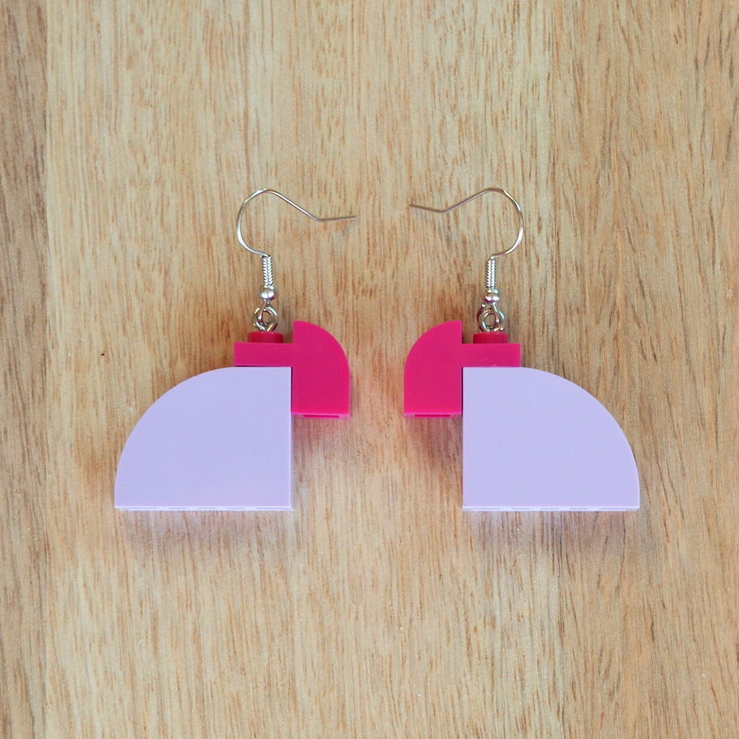 Curved Duo - Light Lavender & Magenta