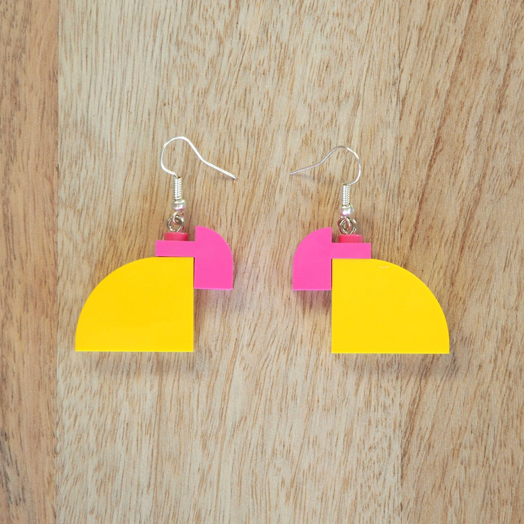 Curved Duo - Yellow & Pink