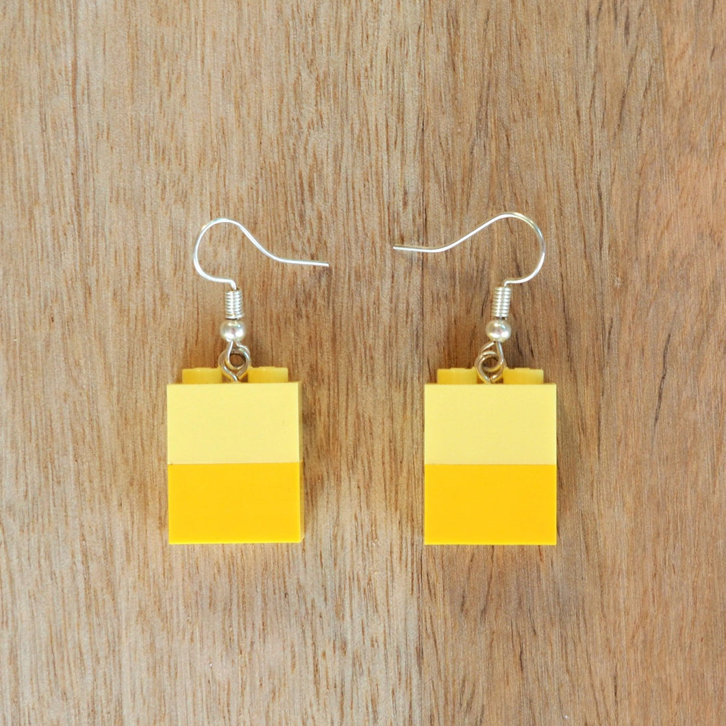 Shades of Yellow brick earrings