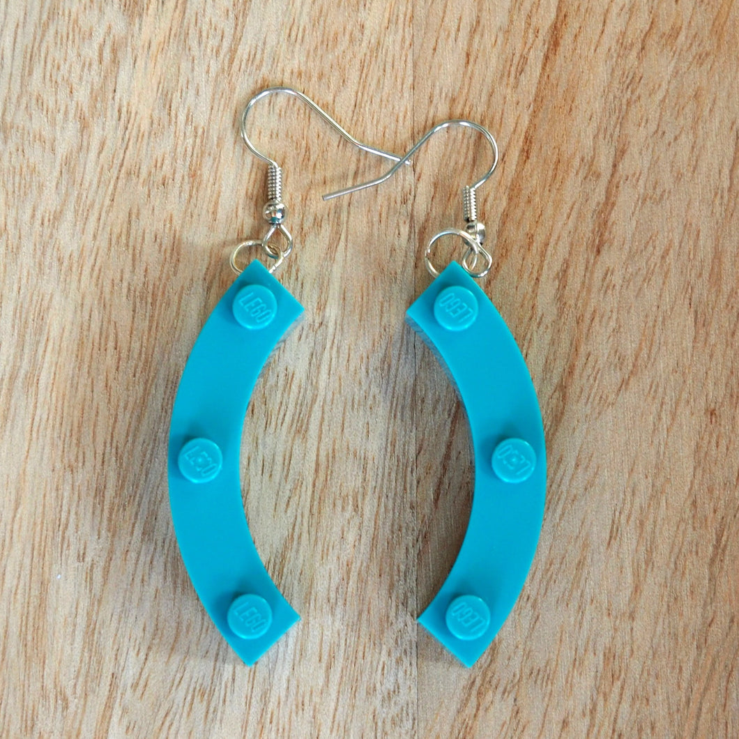 Large curved brick earrings