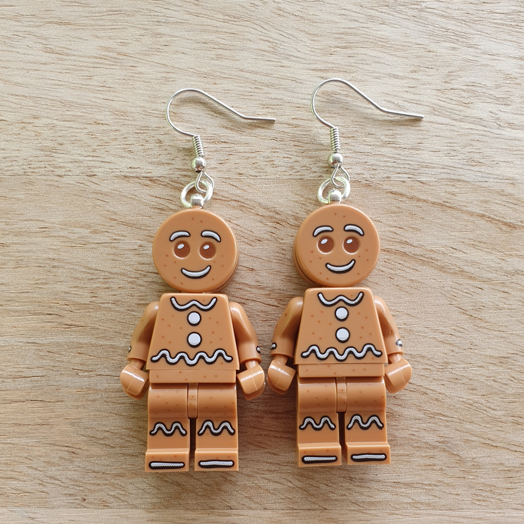Gingerbread Man earrings