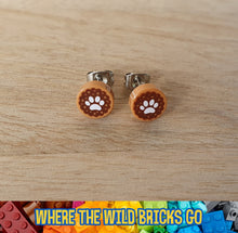Load image into Gallery viewer, Paw Print stud earrings