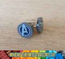 Load image into Gallery viewer, Avengers Symbol cufflinks