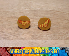Load image into Gallery viewer, Wonder Woman symbol stud earrings