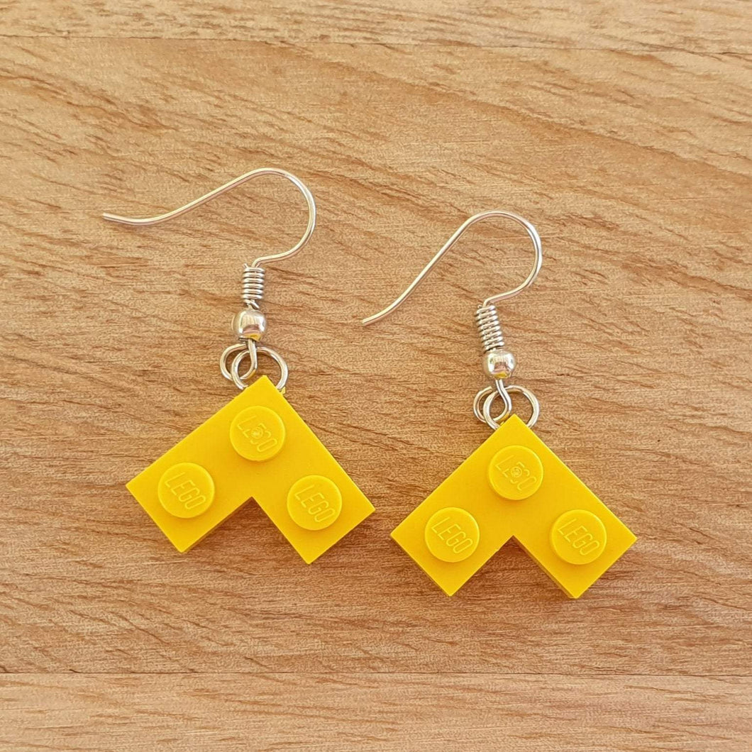 Chevron plate earrings