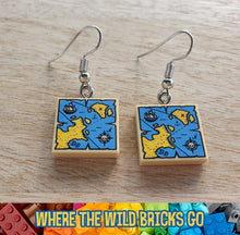 Load image into Gallery viewer, Pirate Map earrings