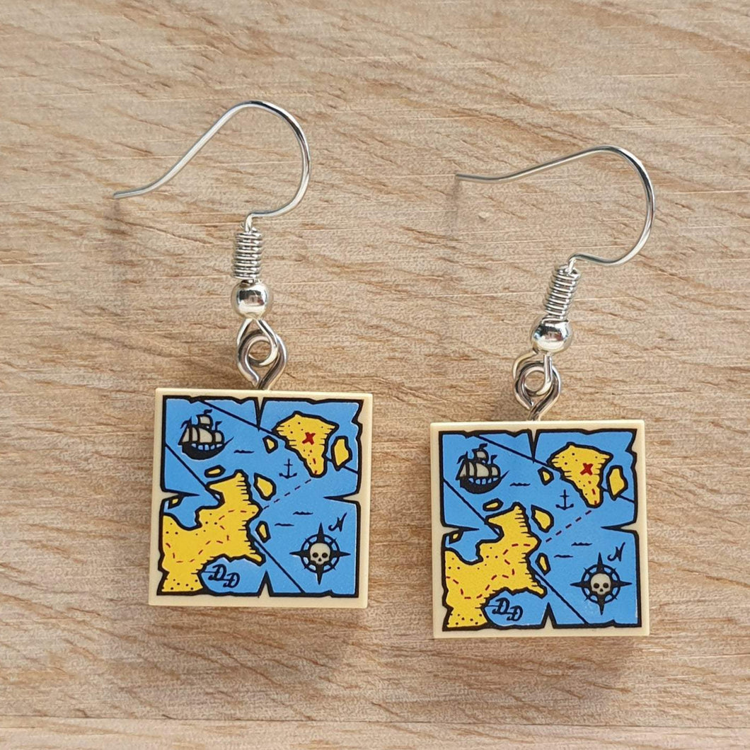 Pirate Map earrings