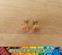 Load image into Gallery viewer, Gold with Jewel stud earrings