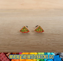 Load image into Gallery viewer, Pizza slice stud earrings