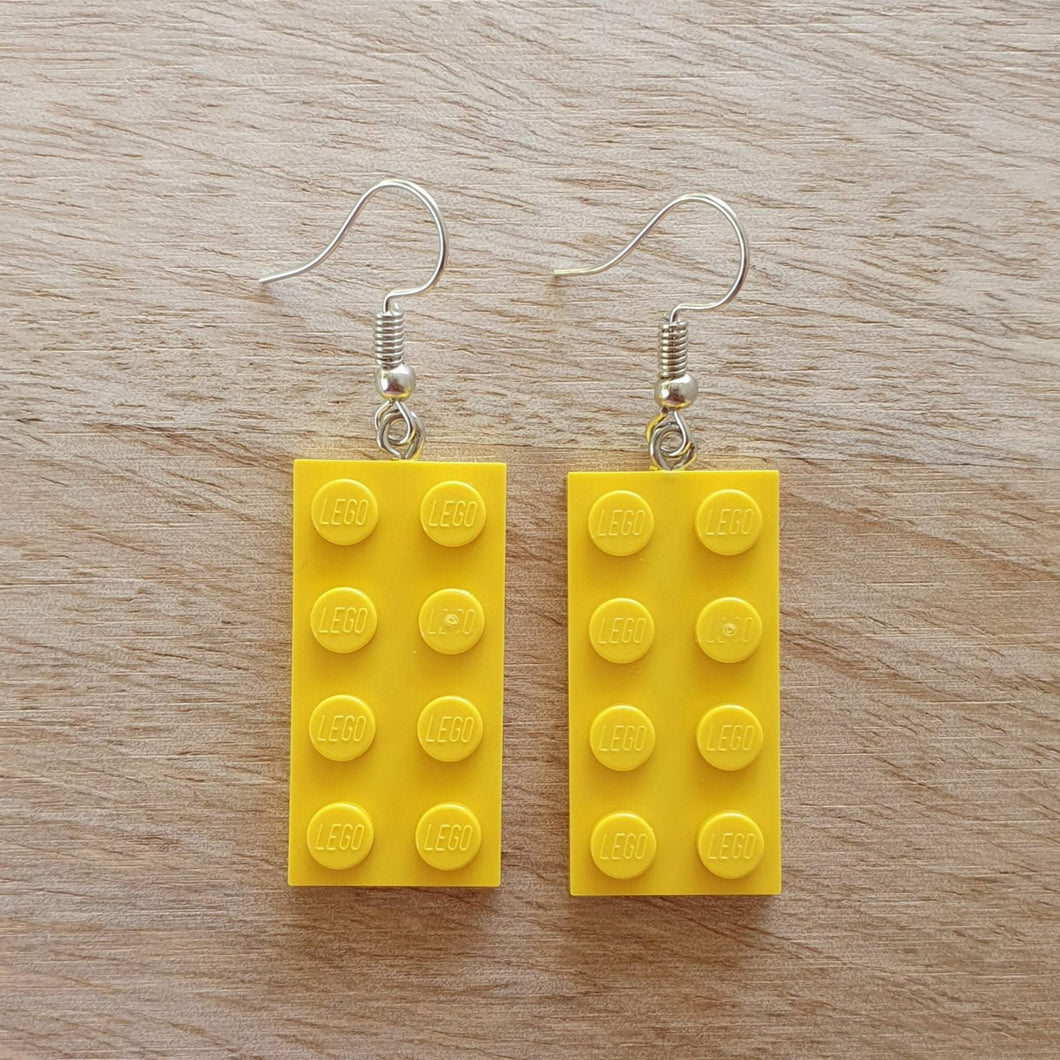 Rectangle plate earrings