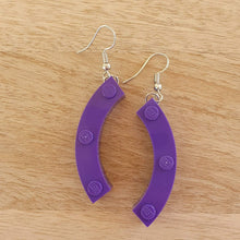 Load image into Gallery viewer, Large curved brick earrings