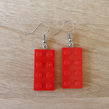 Load image into Gallery viewer, Rectangle plate earrings
