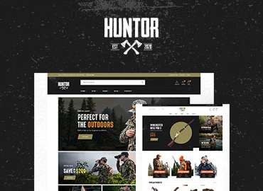 Leo Huntor - Hunting & Outdoor Gear Store Prestashop Theme