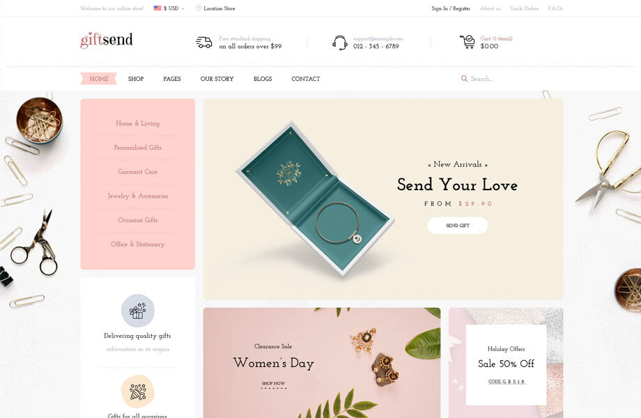 Leo Giftsend - Gifts and Souvenirs Prestashop Theme