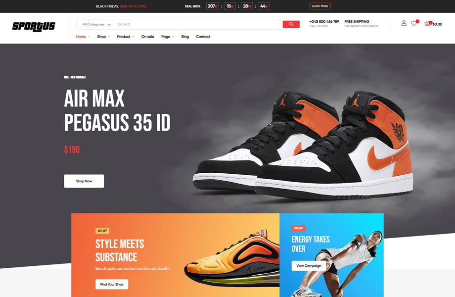 Leo Fitclub Sports Equipment Prestashop Theme