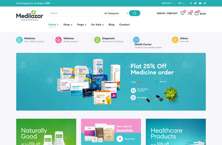 Leo Medilazar Medical And Healthcare Prestashop Theme