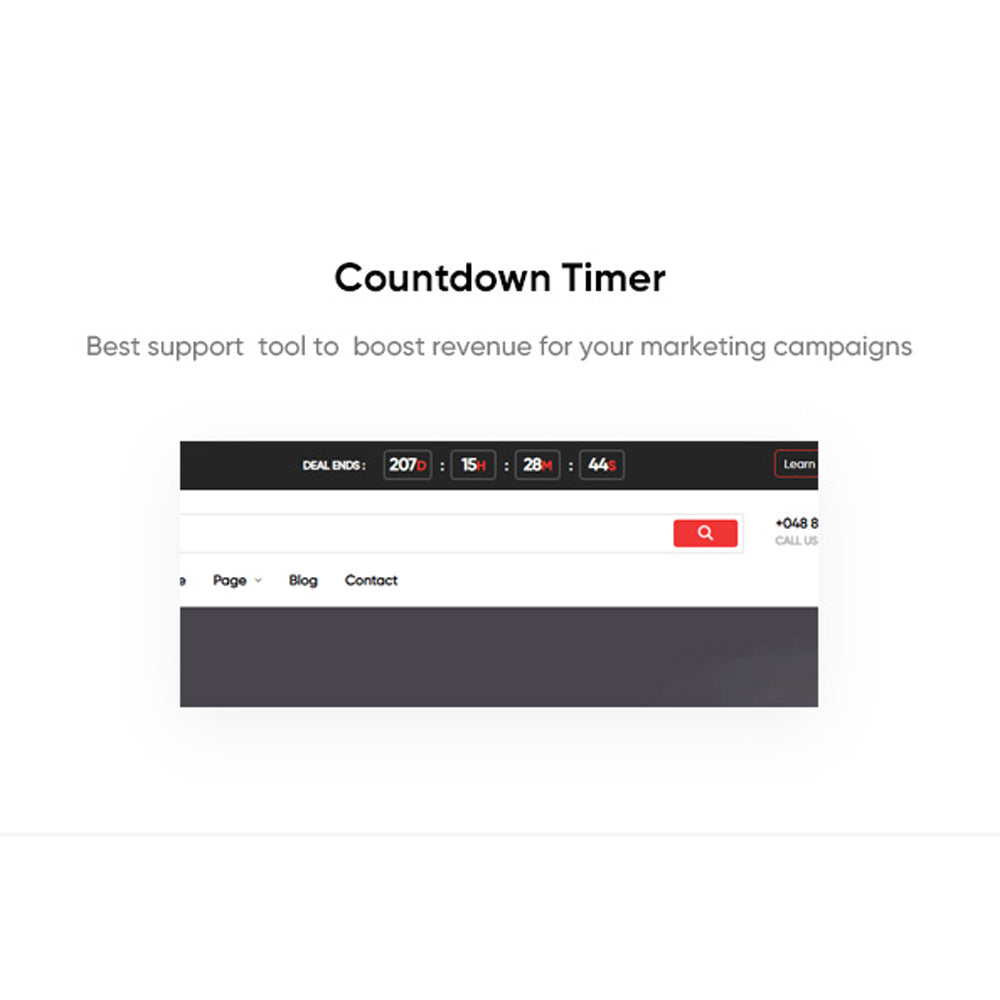 Countdown TimerBest support  tool to  boost revenue for your marketing campaigns