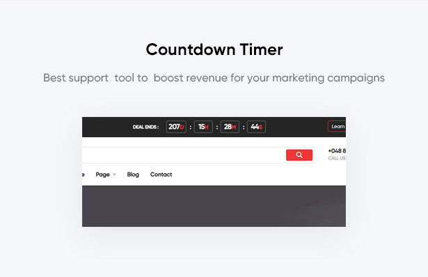 Countdown Timer  Best support  tool to  boost revenue for your marketing campaigns