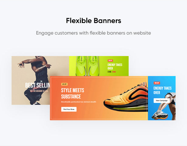 Flexible Banners Engage customers with flexible banners on website