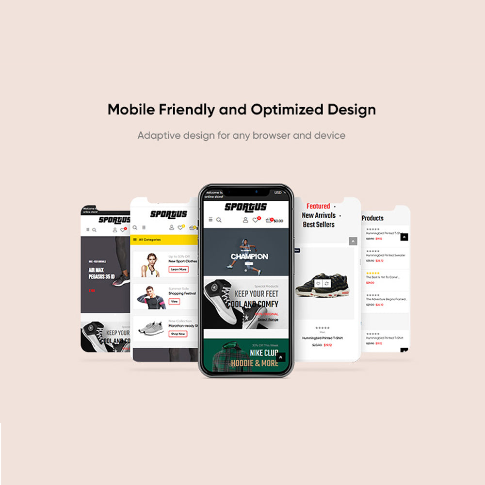 Mobile Friendly and Optimized DesignAdaptive design for any browser and device